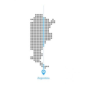 Argentinië doted kaart ontwerp vector