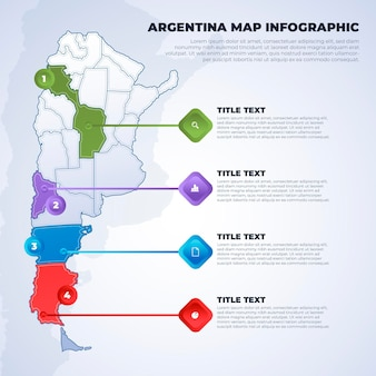 Argentinië kaart infographic