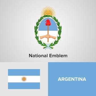 Argentinië kaart vlag en nationale embleem