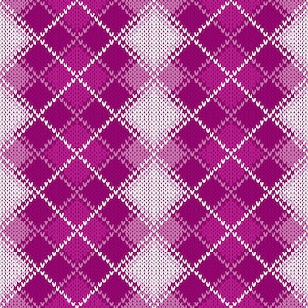 Argyle gebreid patroon