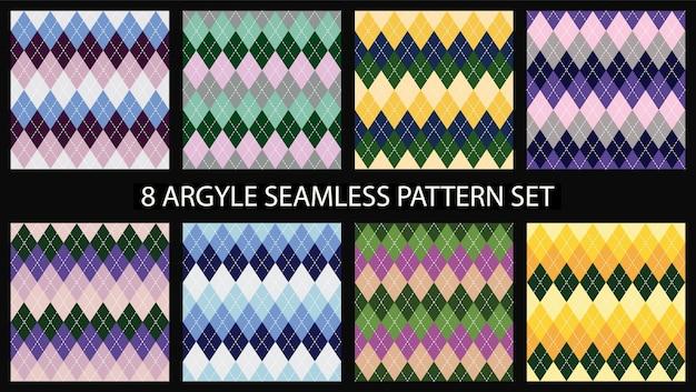 Argyle naadloze patroon set