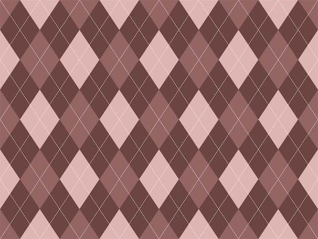 Argyle patroon naadloos. stof textuur
