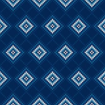 Argyle trui gebreid patroon.