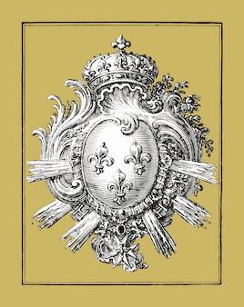 Arm met drie lelies (1785 - 1833) van jean bernard