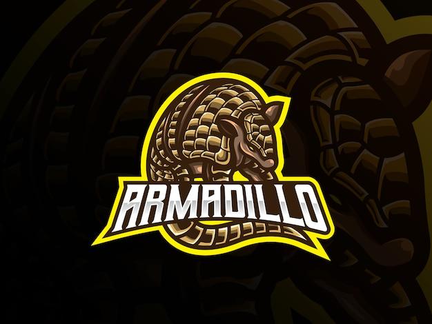 Armadillo mascotte sport logo-ontwerp
