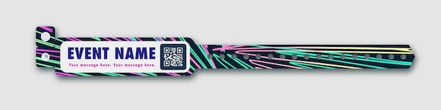 Armband vector sjabloon evenement toegang bliksem achtergrond voor id fan zone of vip party ingang