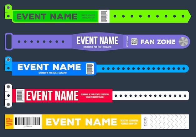 Armbanden voor toegang tot het evenement.