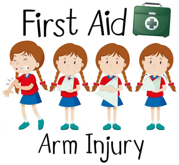 Armschade aan eerste hulp
