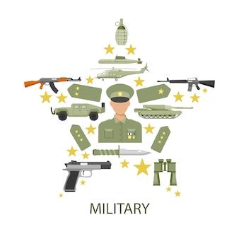 Army star samenstelling Gratis Vector