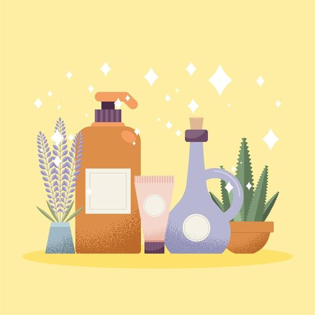 Aromatherapie en spabehandelingen objecten