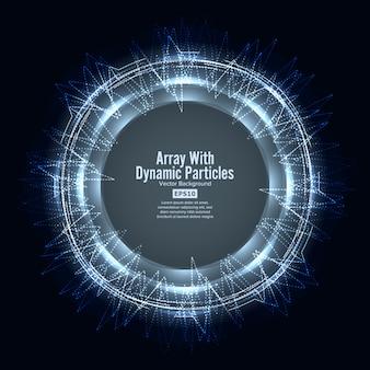 Array met dinamic-deeltjes
