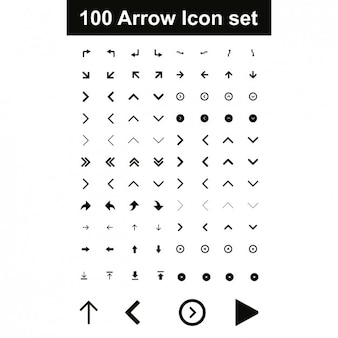 Arrow icon set