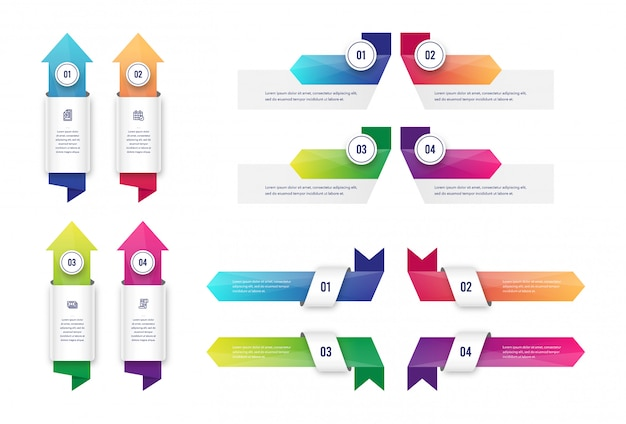 Arrow infographic-collectie