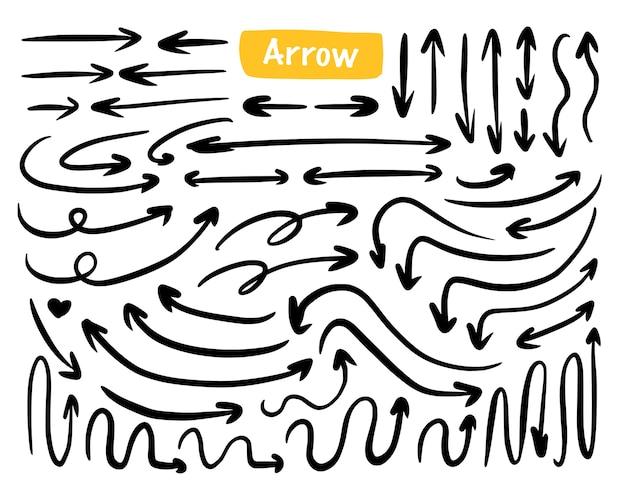 Arrow mega set collectie hand tekenen