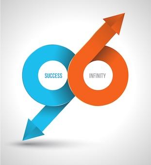 Arrow succes infinity logo.