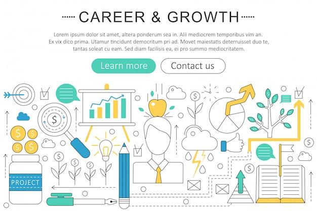 Art carrière en groei concept
