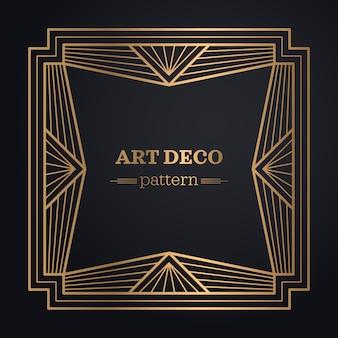 Art deco frame achtergrond