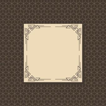Art deco frame met naadloze patroon
