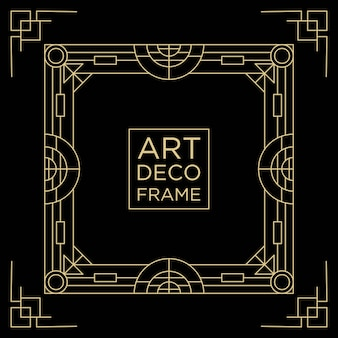 Art deco frame ontwerpsjabloon achtergrond