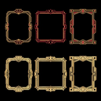 Art deco frames