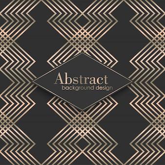 Art deco naadloos patroon met gouden elementen