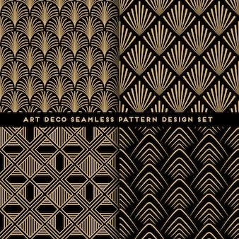 Art deco patroon ingesteld