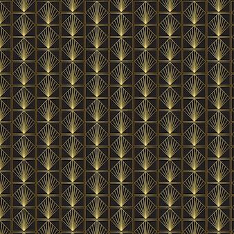Art deco patroon met gouden verloop
