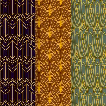 Art deco patrooncollectie