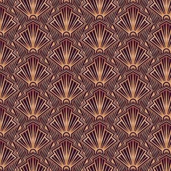 Art deco-patroonontwerp met verloop