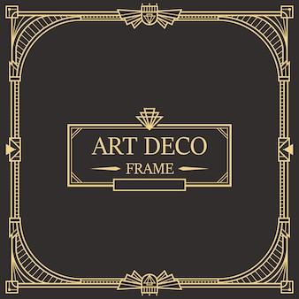 Art deco rand en lijst