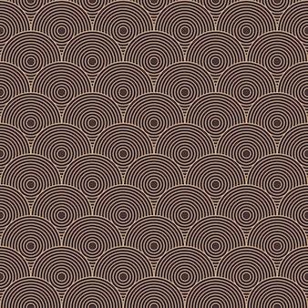Art deco van cirkel patroon achtergrond.