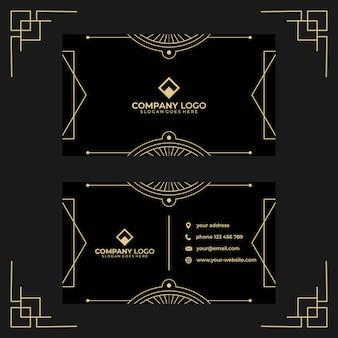 Art deco visitekaartje ontwerpsjabloon
