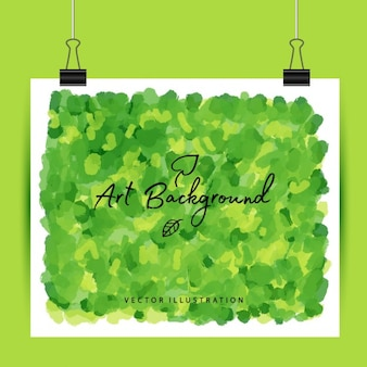 Art groene achtergrond