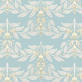 Art nouveau blauweregen bloemenpatroon