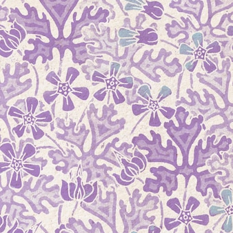 Art nouveau geranium bloem patroon achtergrond