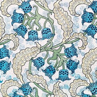 Art nouveau lelietje-van-dalen bloem patroon achtergrond