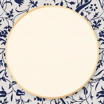 Art nouveau vector tulp bloemenpatroon frames remix van artwork door william morris