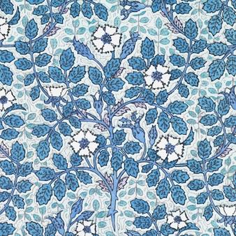 Art nouveau wilde rozenbloem patroon achtergrond