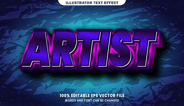 Artiestentekst, bewerkbaar teksteffect in lettertypestijl