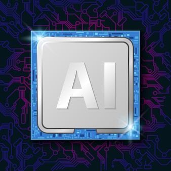 Artificial intelligence (ai) op elektronische cpu-chip