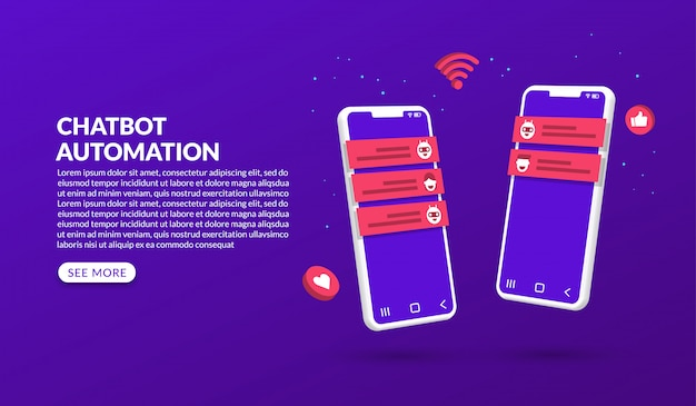 Artificial intelligence chatbot-technologie, smartphone met automatisering chatbot-concept
