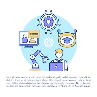 Artikel intelligentie paginasjabloon voor kunstmatige intelligentie.