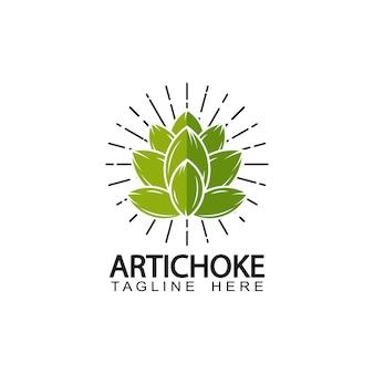 Artisjok logo sjabloonontwerp