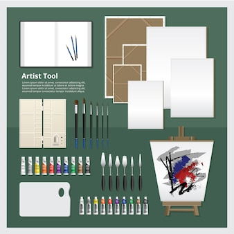 Artist tool set vector illustration