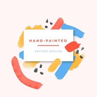 Artistiek frame met gekleurde penseelstreken