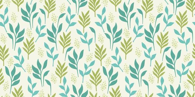 Artistiek naadloos patroon met abstracte bladeren. modern ontwerp voor papier, omslag, stof, interieur en andere gebruikers.