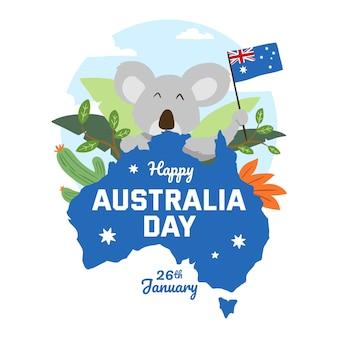 Artistiek ontwerp met australië-ontwerp