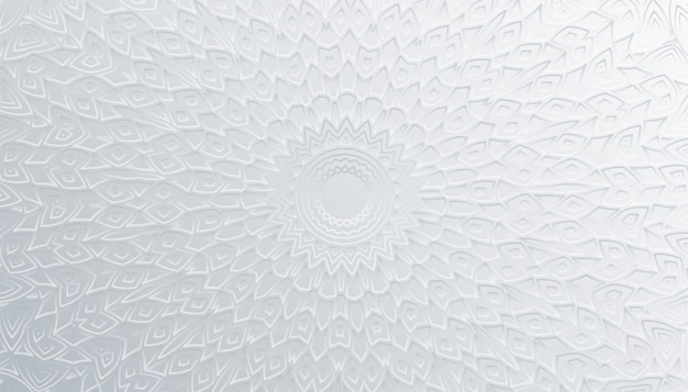 Artistieke 3d mandala decoratie witte achtergrondontwerp