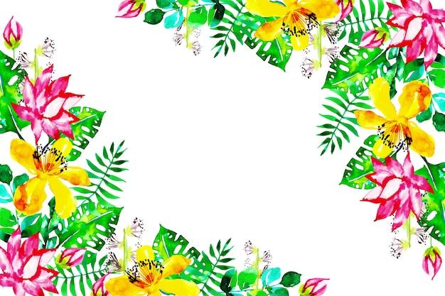 Artistieke achtergrond met exotische bloemen
