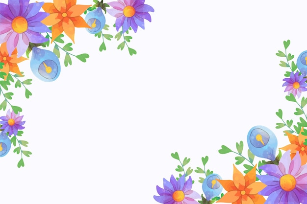 Artistieke aquarel bloemen achtergrond